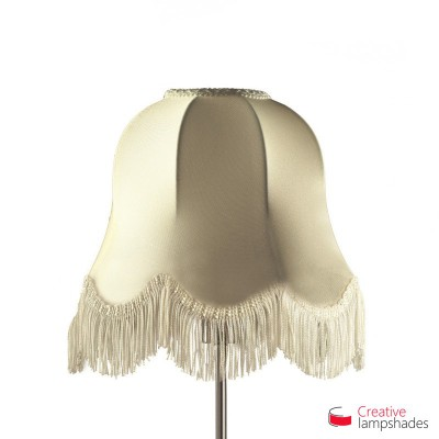 Scallop Bell lampshade Susi Milk Jersey covering