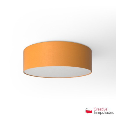 Round ceiling lamp with Mandarine Orange Canvas covering