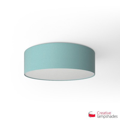Round ceiling lamp with Heavenly Blue Cinette covering