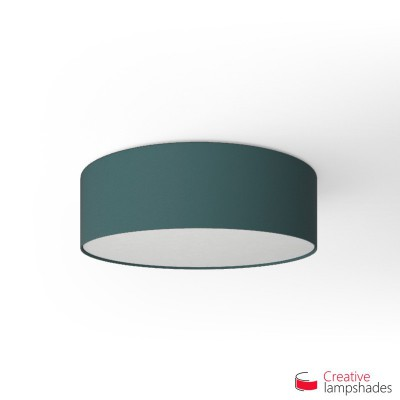 Round ceiling lamp with Blue Cinette covering