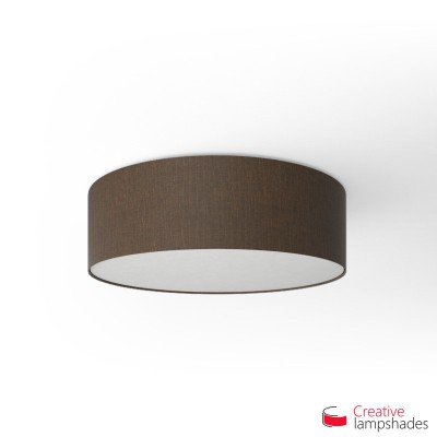 Round ceiling lamp with Brown Camelot covering