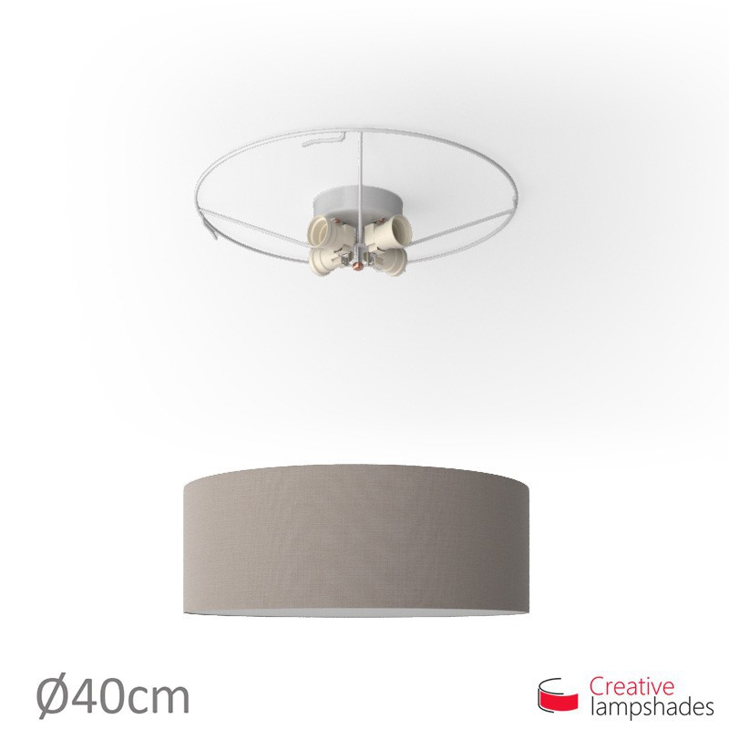 Round ceiling lamp with Grey Camelot covering