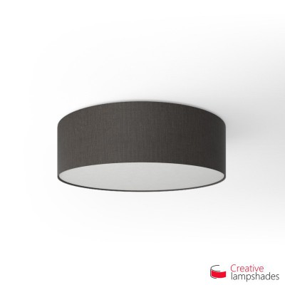 Round ceiling lamp with Black Camelot covering