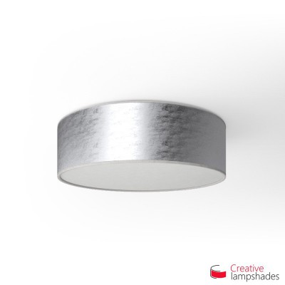 Round ceiling lamp with Silver leaf covering