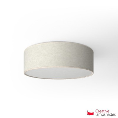Round ceiling lamp with White Parchment covering