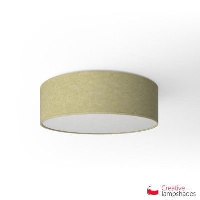 Round ceiling lamp with Light Yellow Parchment covering