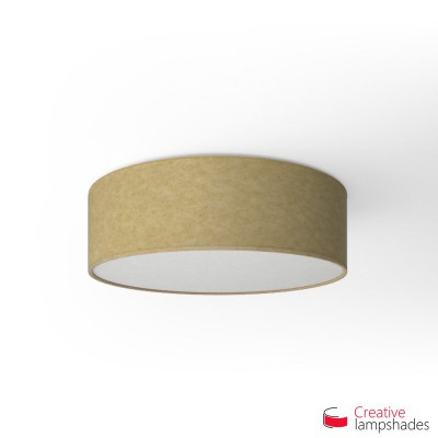 Round ceiling lamp with Yellow Parchment covering