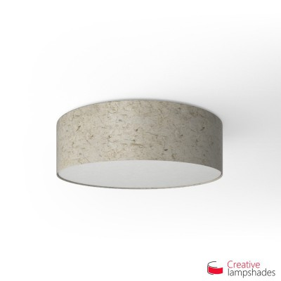 Round ceiling lamp with Banana Paper covering
