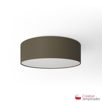 Round ceiling lamp with Ash Canvas covering