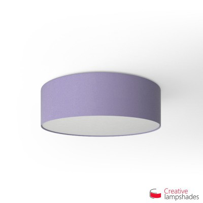 Round ceiling lamp with Lilac Canvas covering