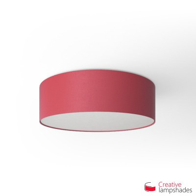 Round ceiling lamp with Fuchsia Pink Canvas covering