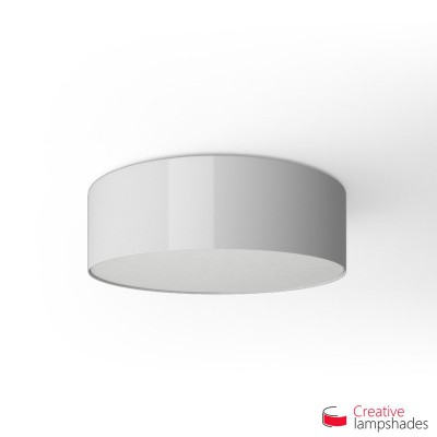 Round ceiling lamp with White Lumiere covering