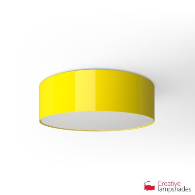 Round ceiling lamp with Yellow Lumiere covering