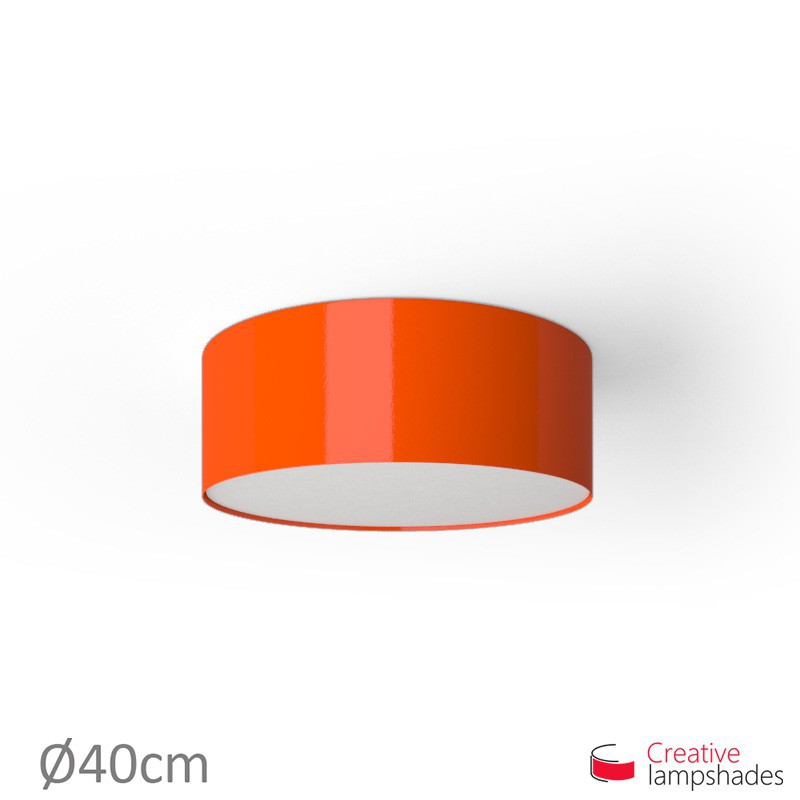 Round ceiling lamp with Orange Lumiere covering