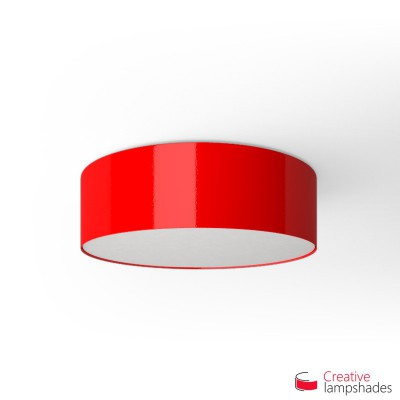 Round ceiling lamp with Red Lumiere covering