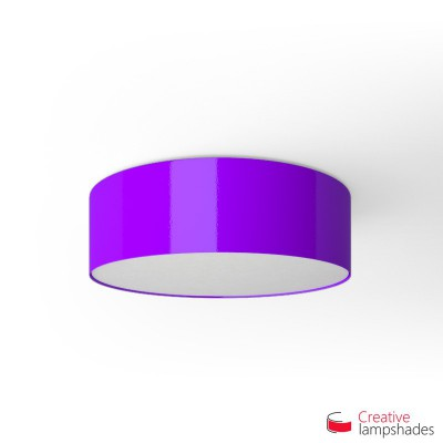 Round ceiling lamp with Violet Lumiere covering