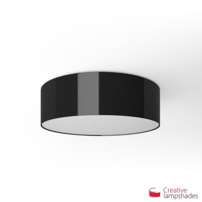 Round ceiling lamp with Black Lumiere covering
