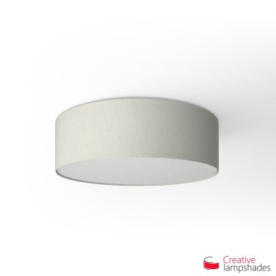 Round ceiling lamp with White Raw cotton covering