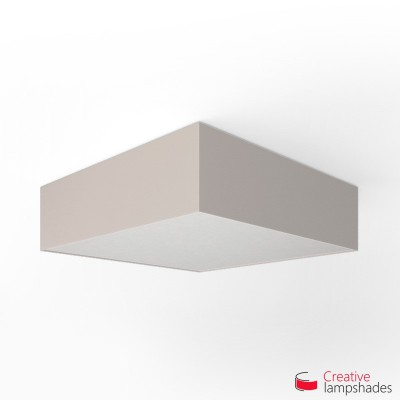 Square ceiling lamp with Sand Canvas cover