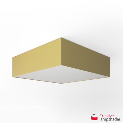 Square ceiling lamp with Pale Yellow Canvas cover