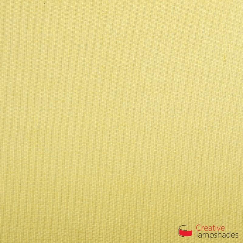 Rechteckige Deckenleuchte mit Hellgelb Leinwand Bezug