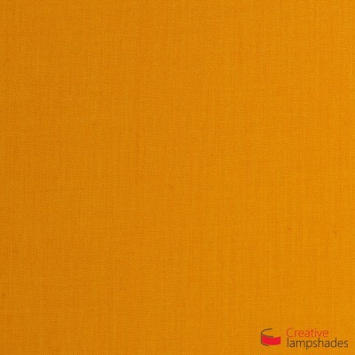 Square ceiling lamp with Mandarine Orange Canvas cover