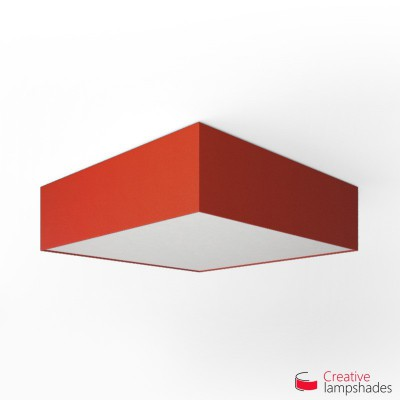 Square ceiling lamp with Red Canvas cover