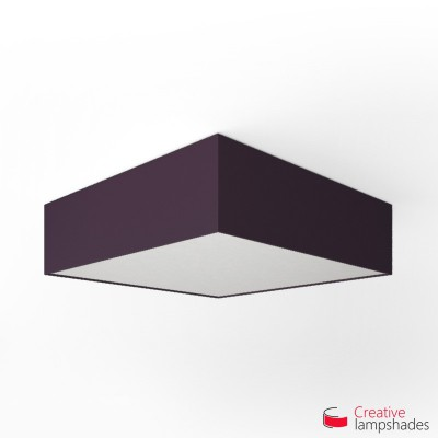 Square ceiling lamp with Dark Violet Canvas cover