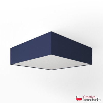 Square ceiling lamp with Blue Canvas cover