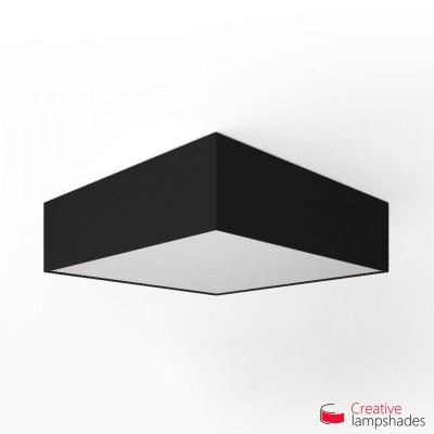Square ceiling lamp with Black Canvas cover