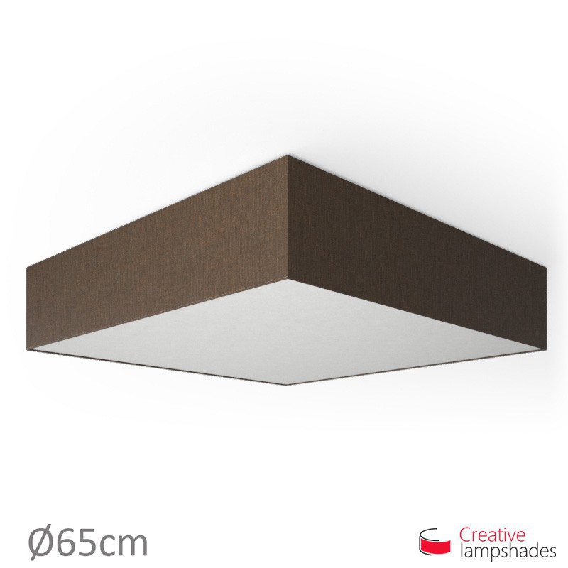 Square ceiling lamp with Brown Camelot cover