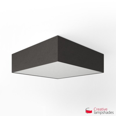 Square ceiling lamp with Black Camelot cover