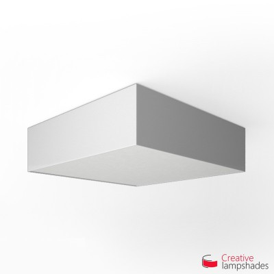 Square ceiling lamp with White Lumiere cover
