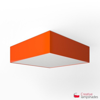 Square ceiling lamp with Orange Lumiere cover