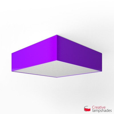 Square ceiling lamp with Violet Lumiere cover
