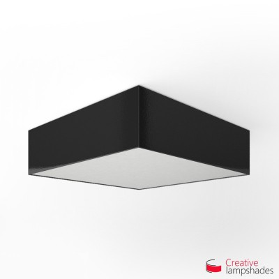 Square ceiling lamp with Black Lumiere cover