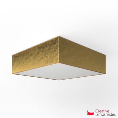 Square ceiling lamp with Gold Leaf cover