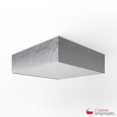 Square ceiling lamp with Silver Leaf cover