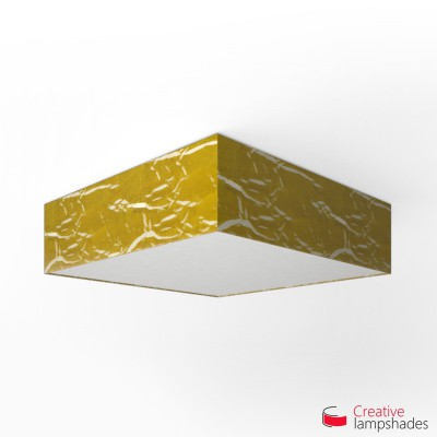 Square ceiling lamp with Golden Persia cover