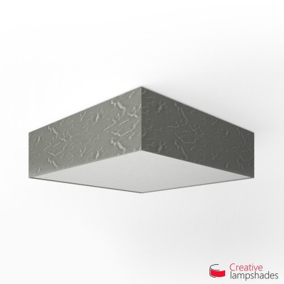 Square ceiling lamp with Silver Persia cover