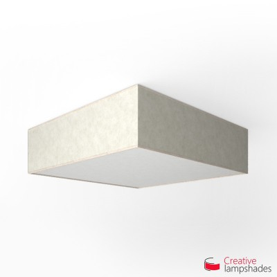Square ceiling lamp with White Parchment cover