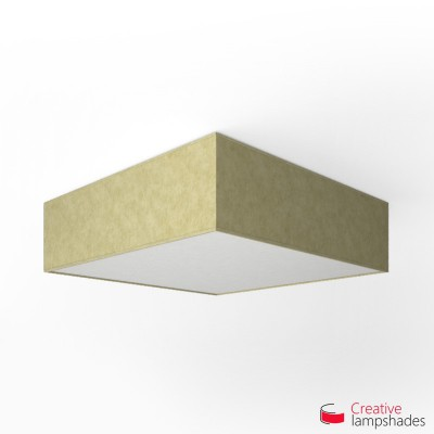 Square ceiling lamp with Light Yellow Parchment cover