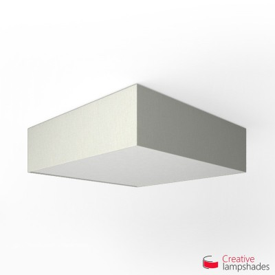 Square ceiling lamp with White Raw cotton cover