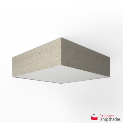 Square ceiling lamp with Banana Paper cover
