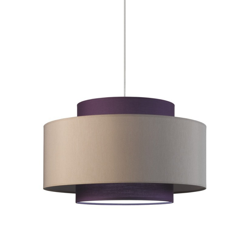 Turtledove + Violet triple cylinder pendant lamp diameter 50 h 30 with diffuser.