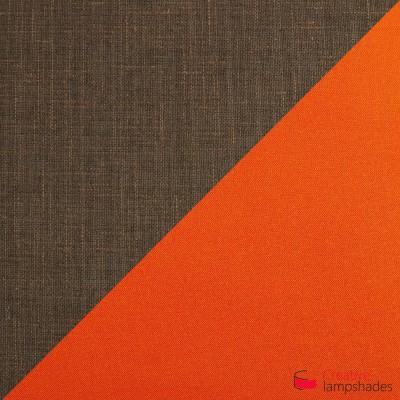 Otta die achteckig zweifarbige Pendelleuchte - braun und orange
