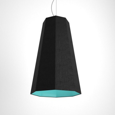 Otta two-colour octagonal pendant - black and turquoise