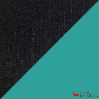 Otta Sospensione ottagonale bicolore nero e turchese
