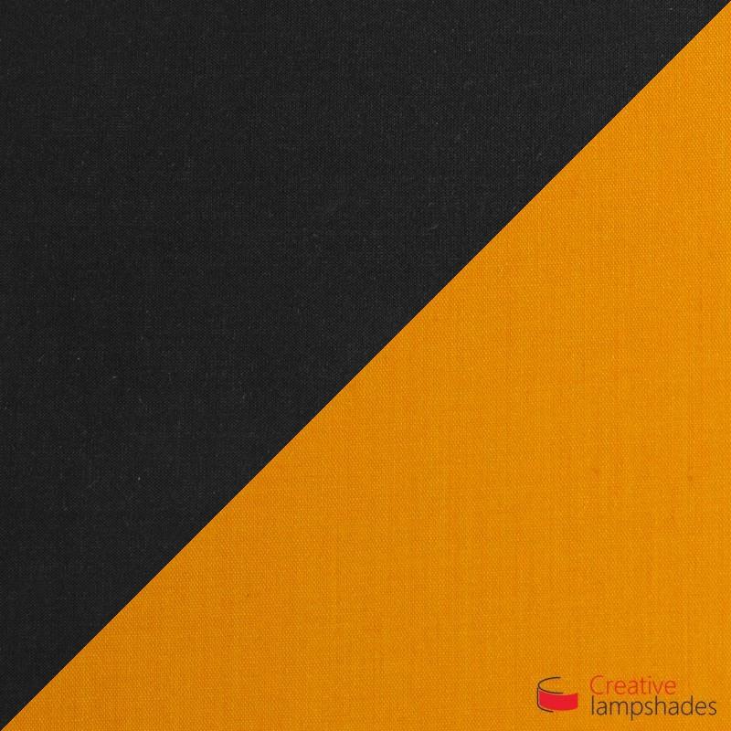 Triptychon Multi Kegel Pendelleuchte Lampenschirm – schwarz und tieforange
