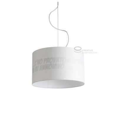 Complete ON-OFF pendant external sand cotton and internal Charlie Brown print E27 fitting Max 60W